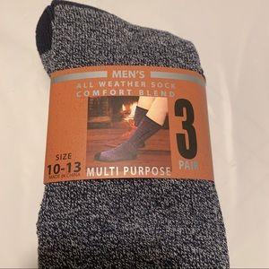 Men's All Weather Socks Comfort Blend Mens 10-13